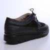 Pantofi Oxford din piele box negru combinat cu piele intoarsa neagra