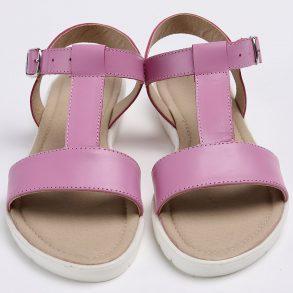 Sandale din piele naturala de culoare mov