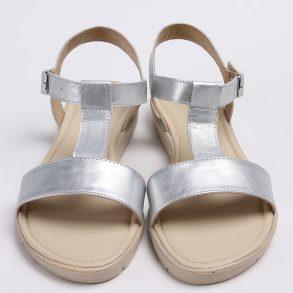 Sandale din piele naturala argintie